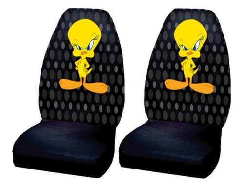 Tweety Bird Car Bucket Seat Covers - One Pair front-56653