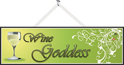Wine Goddess Sign in Green