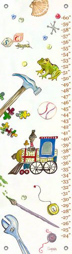 Oopsy daisy Play Growth Chart by Shelly Kennedy, 12 by 42 Inches