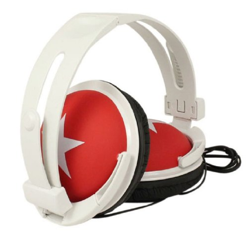 Amjimshop Vovotrade(Tm) Colorful Fashion Design Stereo Headphones With Star (Red)