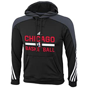 Adidas Chicago Bulls Youth Practice Pullover Hooded Sweatshirt by adidas