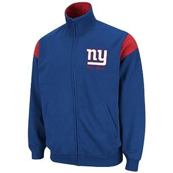 NFL Mens New York Giants Full Zip Track Jacket by NFL