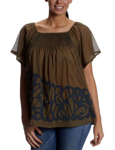 Antik Batik - Canotta - Collo a U  -  donna Verde (Kaki) 40