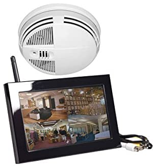Xtreme Life Night Vision Smoke Detector Surveillance Camera w/QUAD LCD
