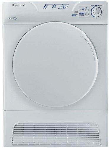 Candy GCC 580NB-S Libera installazione Caricamento frontale 8kg B Bianco asciugatrice