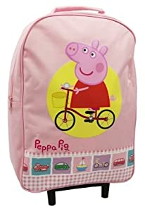 Peppa Pig Princess Cycling Pink Wheeled Trolley Bag