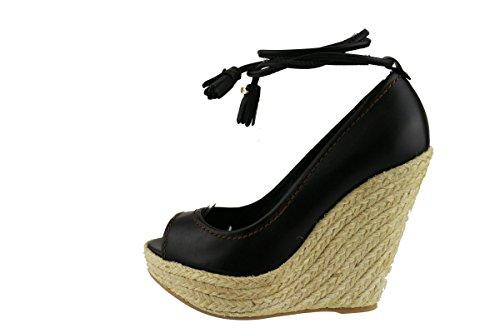 SERGIO ROSSI 37 EU sandali donna nero pelle AH735