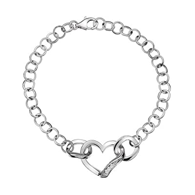 Hot Diamonds Simply Sparkle Heart Bracelet of 19cm