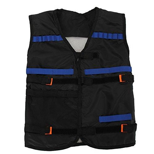 Merssavo Childrens Enfants Elite Tactical Vest pour Nerf Gun N-strike Elite Series (noir)