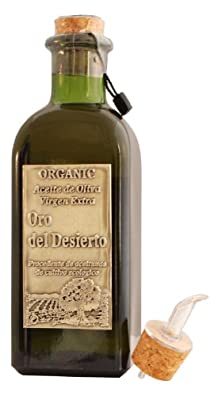 Oro del Desierto Coupage - Award Winning Cold Pressed EVOO Extra Virgin Olive Oil, 2013-2014 Harvest, 17-Ounce Glass Bottle