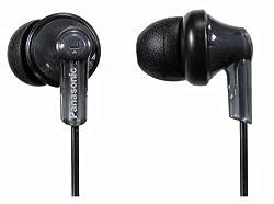 Panasonic RP-HJE118E-K In-Ear Canal Earphone for iPod/MP3 Player (Black)