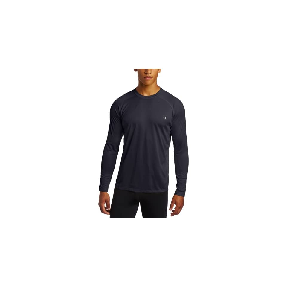 Champion Mens Double Dry Core Long Sleeve Tee,Navy,XX Large