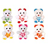 Lehar Toys 10cm Mini Teddy-Set Of Six