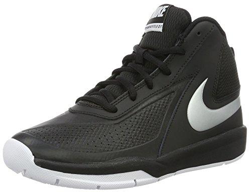 Nike Team Hustle D7 Gs, Scarpe da Basketball Bambini e Ragazzi, Multicolore (Black/Metallic Silver/White), 36 1/2 EU