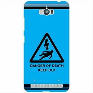 Asus Zenfone Max ZC550KL Back Cover - Silicon Danger Of Death Designer Cases