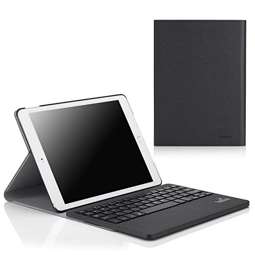MoKo Apple iPad Air 2 Case - Tastiera Bluetooth Senza fili QWERTY ( Versione Americana ) Custodia per Apple iPad Air 2 (iPad 6) 9.7 Inch iOS 8 Tablet, NERO (Con Smart Cover Auto Sveglia /