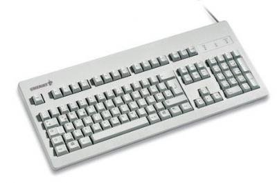 Cherry Classic Line G80-3000 - Keyboard - PS/2, USB - 105 keys - light grey - UK