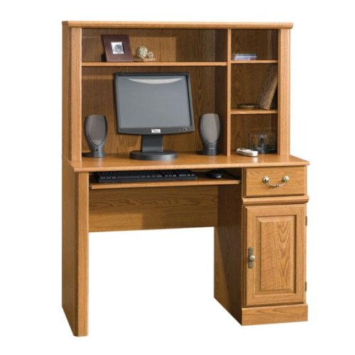Oak Finish Computer Desk w/ Hutch