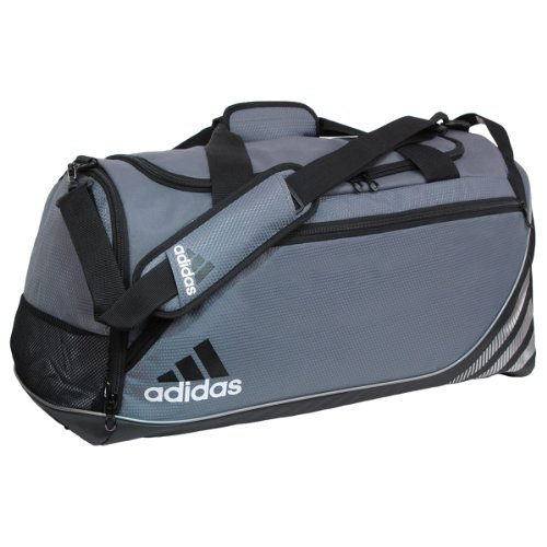 adidas Team Speed Small Duffel Bag, Lead (12 x 22 x 12-Inch) image