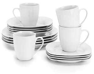 Ten Strawberry Street Simply White Square 16-piece Dinnerware Set