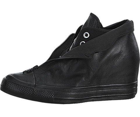 Converse Chuck Taylor Lux Shroud Mid - Black / Black, 7 B US