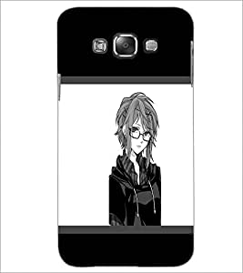 PrintDhaba Girl with Spectacles D-1400 Back Case Cover for SAMSUNG GALAXY E7 (Multi-Coloured)