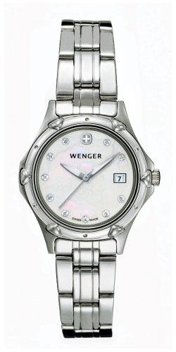 WENGER Ladies Standard Issue - Mother of Pearl Dial with Swarovski Crystals