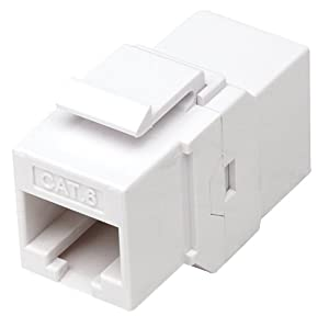 Intellinet, RJ45 Female to Female UTP CAT.6 Keystone Coupler, White