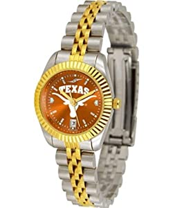 Texas Longhorns UT NCAA Ladies Anochrome Gold Watch by SunTime