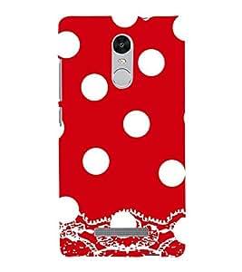 Vizagbeats White Polka Dot Pattern Back Case Cover for XIAOMI REDMi NOTE 3