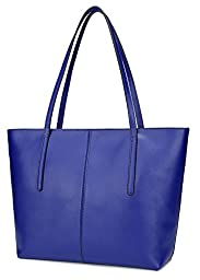 Ilishop Women\'s Brand New Fashion Handbag High-end Genuine Leather Shoulder Bags NB121-blue