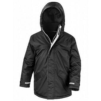 Result Childrens/Kids Core Winter Parka Waterproof Windproof Jacket (3-4) (Black)