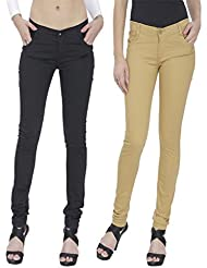 NGT Womens Pack Of Beige And Black Formal Trousers.
