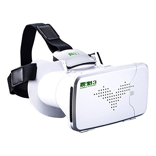 3D VR Glasses, CEStore RIEM III VR BOX Video Movies Games Glasses Headset Adjustable Cardboard with 360 Degree Virtual Reality Scene for All Android and iOS iPhone between 4.0 to 6.0 inchs Phones
