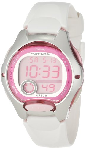 Casio Casio Women's LW200-7AV White Resin Strap and Pink Dial Digital Watch