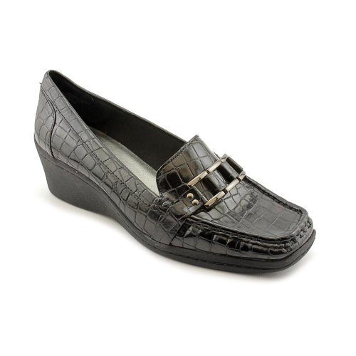 Anne Klein Ak Lonna Womens Size 6 Black Loafers Shoes Uk 4
