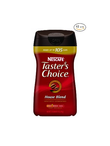 Tasters Choice Originial Blend Instant Coffee - 7 Oz. Container, 12 Containers Per Case