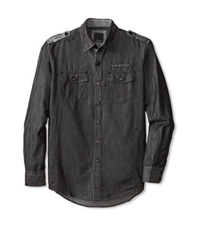 7 Diamonds Men's Mechanical Dreams Solid Two Pocket Shirt