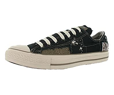 Converse All Star Chuck Taylor Patches Ox Unisex Shoes Size US 6, Regular Width, Color Beige / Black / Brown