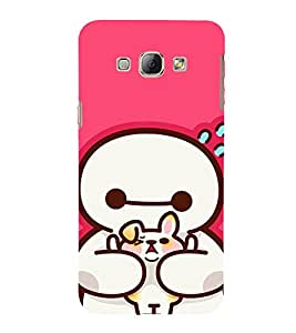 EPICCASE Cute Teddy cover Mobile Back Case Cover For Samsung Galaxy A8 (Designer Case)