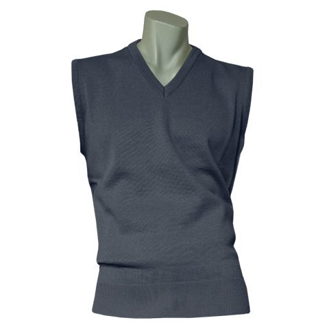 Men's Sleeveless Sweater- Medium Weight - Dark Denim