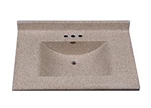 Imperial Fw3122capss Center Wave Bowl Bathroom Vanity Top