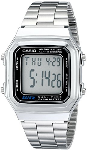 Casio Men's A178WA-1A Illuminator Stainless Steel Watch (Men Steel Watch compare prices)