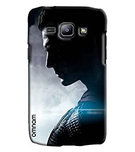 Omnam Superman In Black Pose Printed Designer Back Cover Case For Samsung Galaxy J1