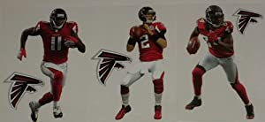 Atlanta Falcons Mini FATHEAD Team Set of 6 Official Vinyl Wall Graphics (3 Players +... by Fathead