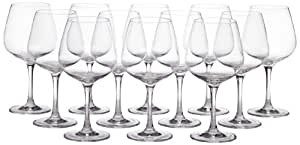 Schott Zwiesel Tritan Crystal Glass Stemware Congresso Collection Light Body Wine Glass, Red/Burgundy, Set of 12