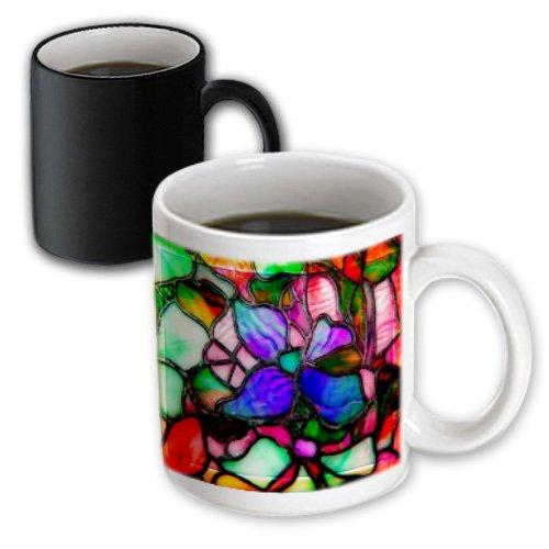 Mug_66277_3 Spiritual Awakenings Patterns - Stained Glass Window Look Vibrant Colors - Mugs - 11Oz Magic Transforming Mug