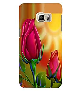 ColourCraft Love Flowers Design Back Case Cover for SAMSUNG GALAXY S6 EDGE PLUS