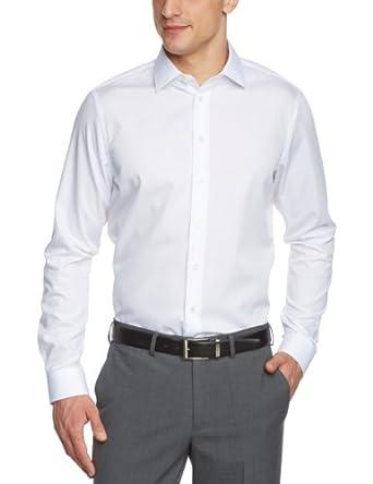 Arrow Herren Businesshemd Slim Fit 010001/01 Madison NOS Kent 1/1 W102, Gr. 41, Weiß (01)
