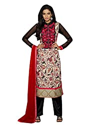 Dlines Multi Coloured Cotton Embroidery Salwar Suit